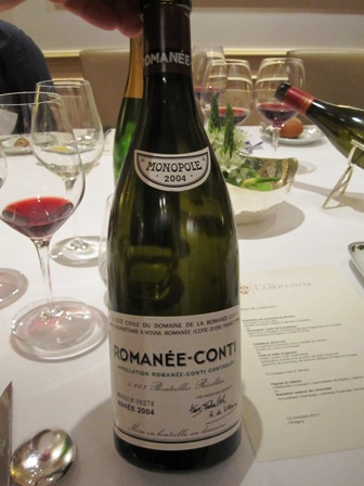 Burgundy Grand Cru Tour- Wines Tasted