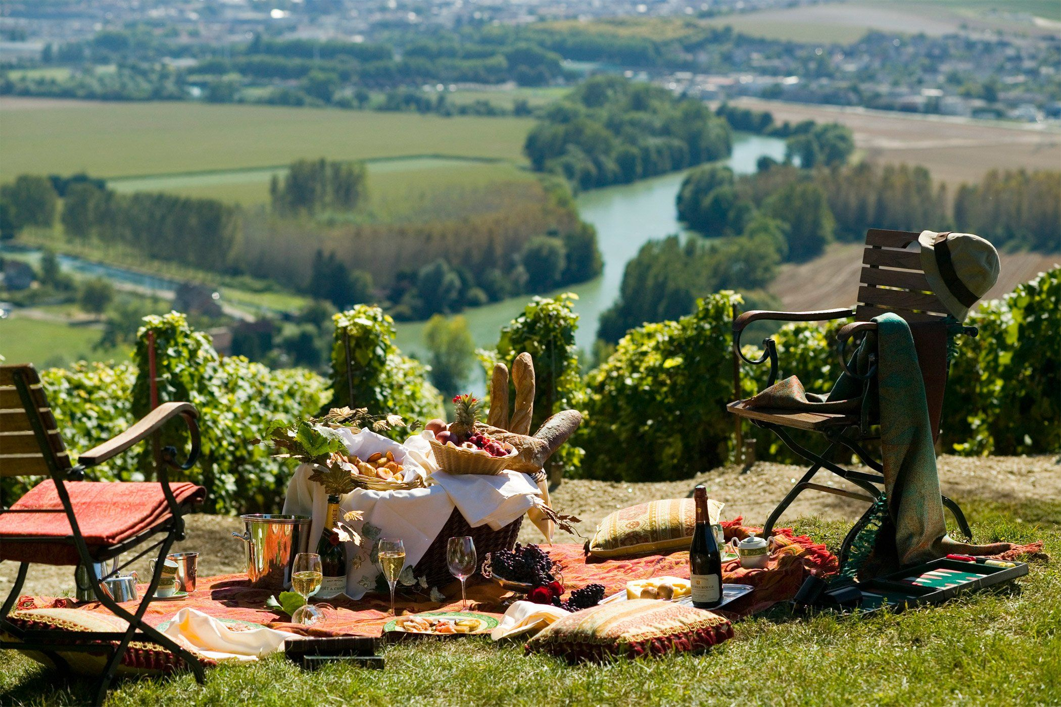 Picnic with Wine, Charcuterie, and a View