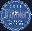 2011 Conde Nast Traveler Top Travel Specialist
