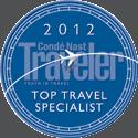 2012 Conde Nast Traveler Top Travel Specialist