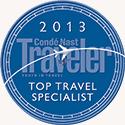 2013 Conde Nast Traveler Top Travel Specialist
