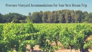 Provence Vineyard accommodations
