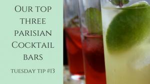 Our top threeparisian Cocktail bars