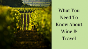 What You Need ToKnow AboutWine &Travel